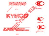 STICKERS voor Kymco KYMCO UXV 450I 4T EURO 4