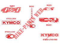 STICKERS voor Kymco MXU 500I DX IRS 4T EURO 2
